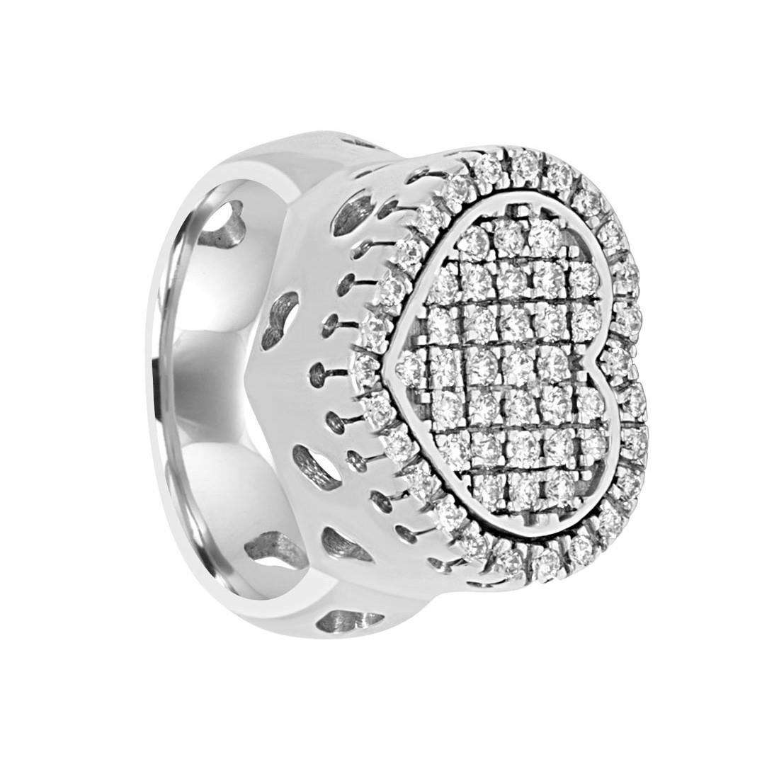 Anello in oro bianco con diamanti ct 0.57, misura 11 - ORO&CO