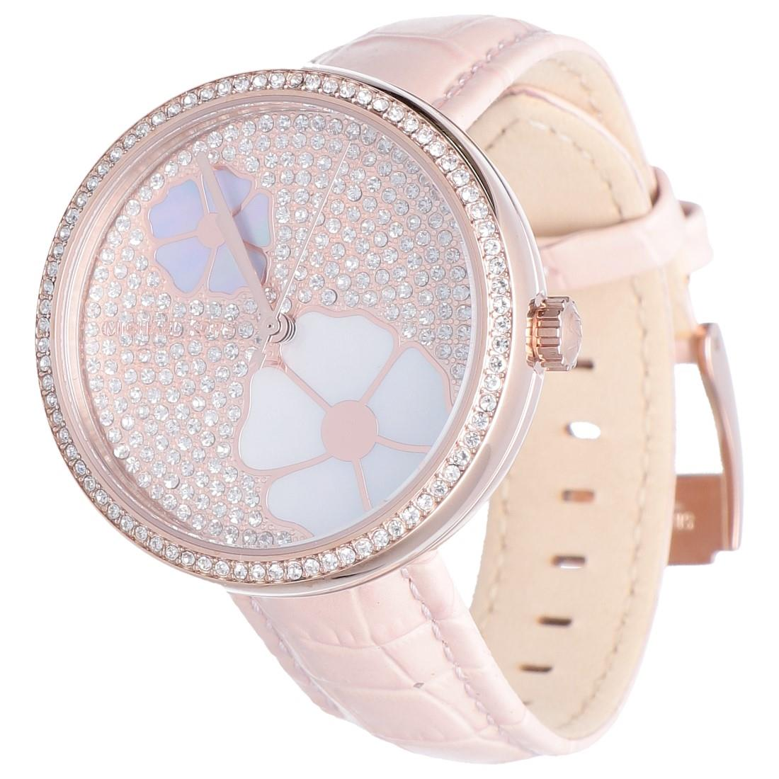 6a777a9aeb97 Watch 36 mm case in rose gold steel - MICHAEL KORS - LuxuryZone
