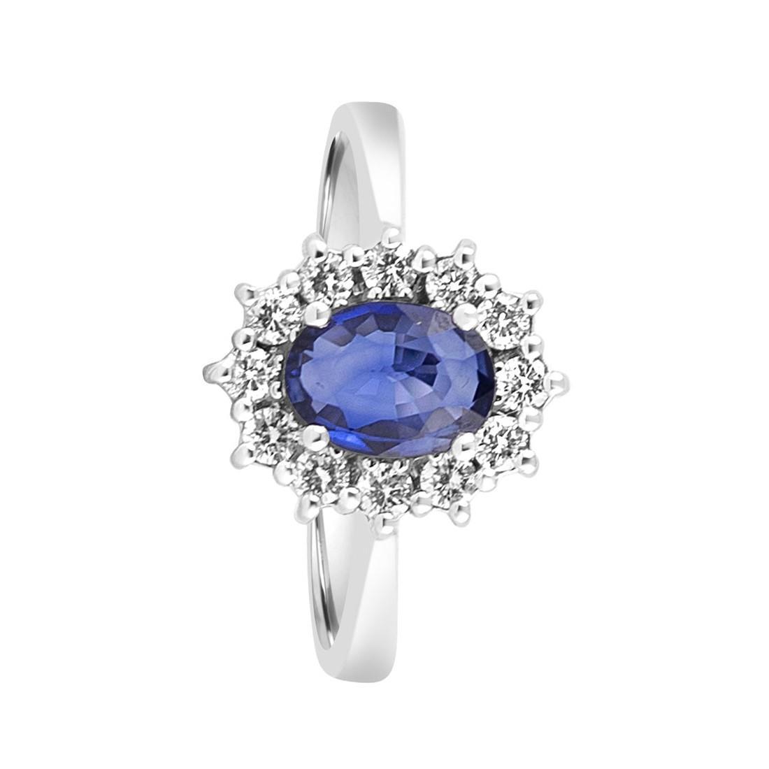Anello con zaffiro e diamanti  - ORO&CO