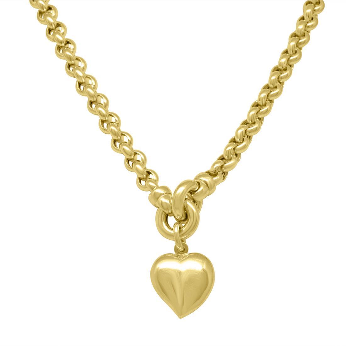 Collana in oro giallo con cuore - ORO&CO