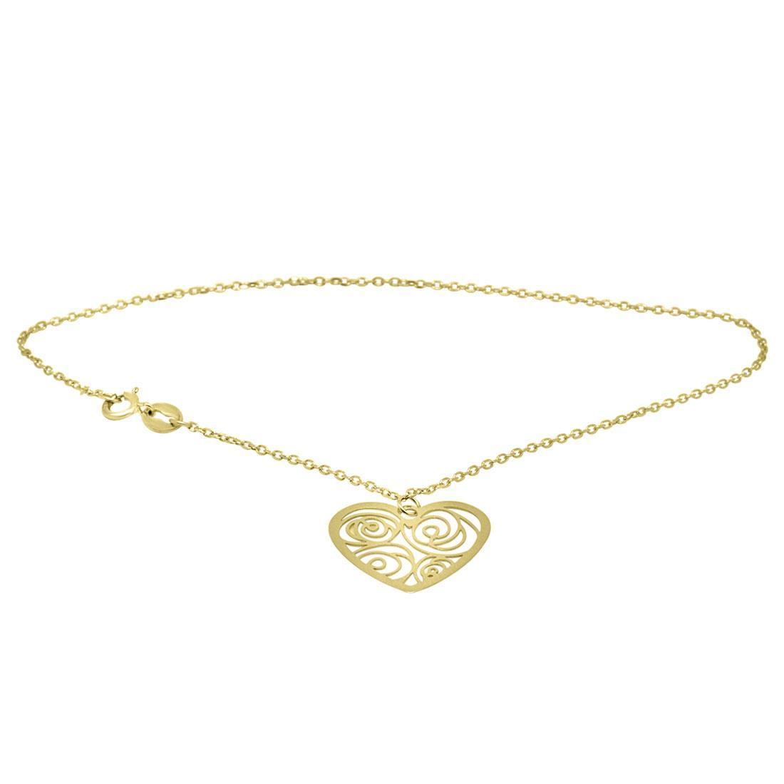 Bracciale in oro giallo con cuore  - ORO&CO