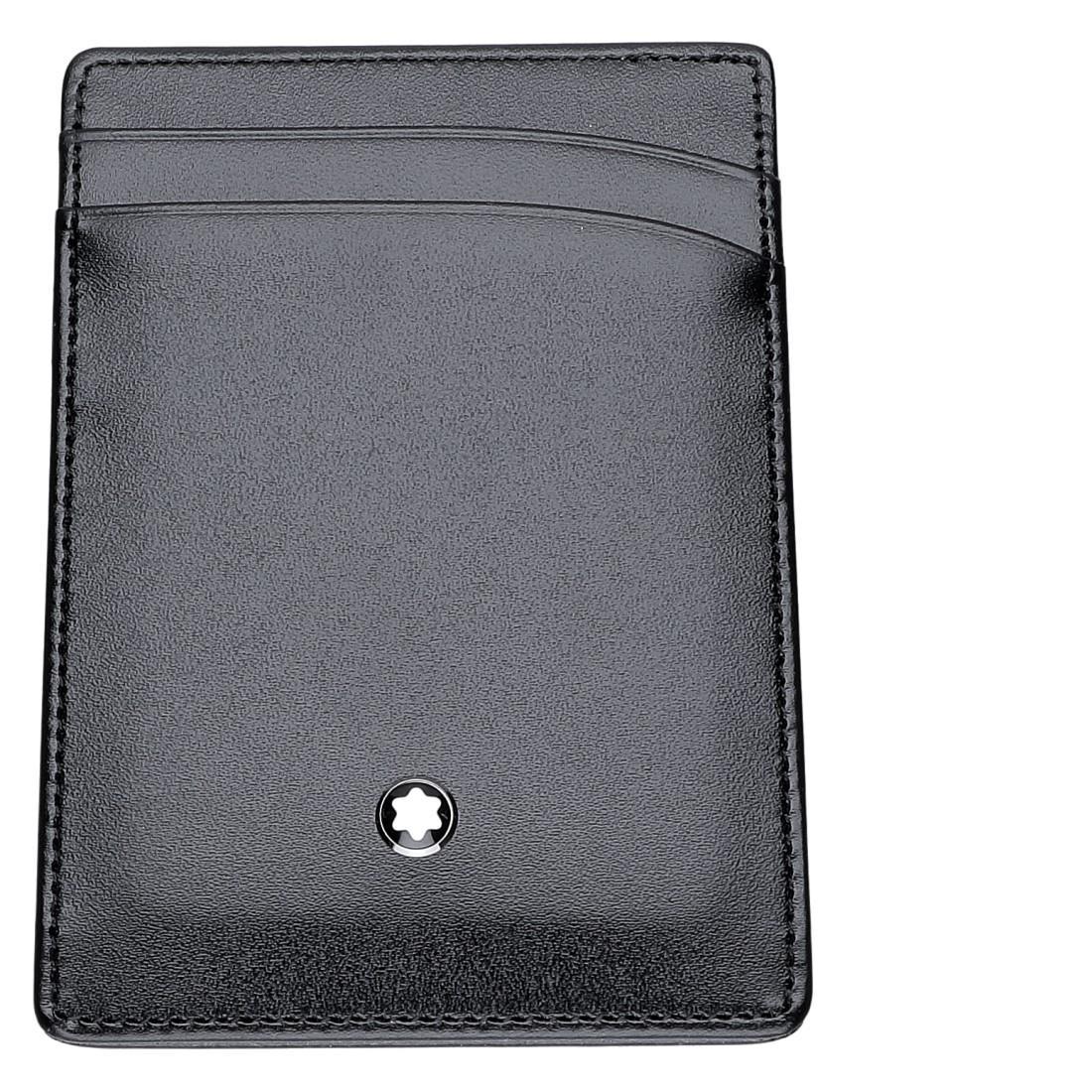 Porta carte di credito in pelle nera - MONTBLANC