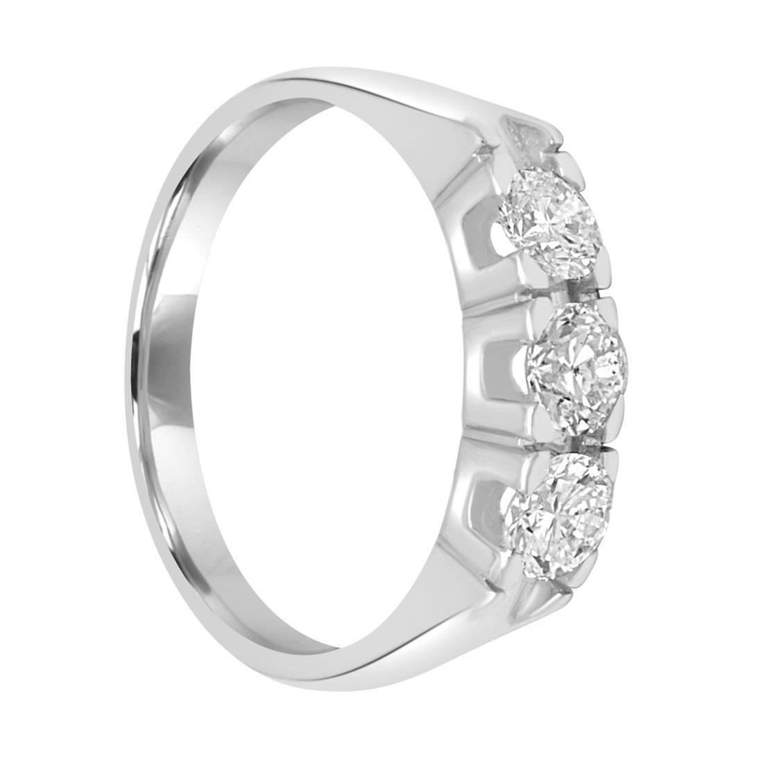 Anello trilogy in oro bianco con diamanti - ORO&CO