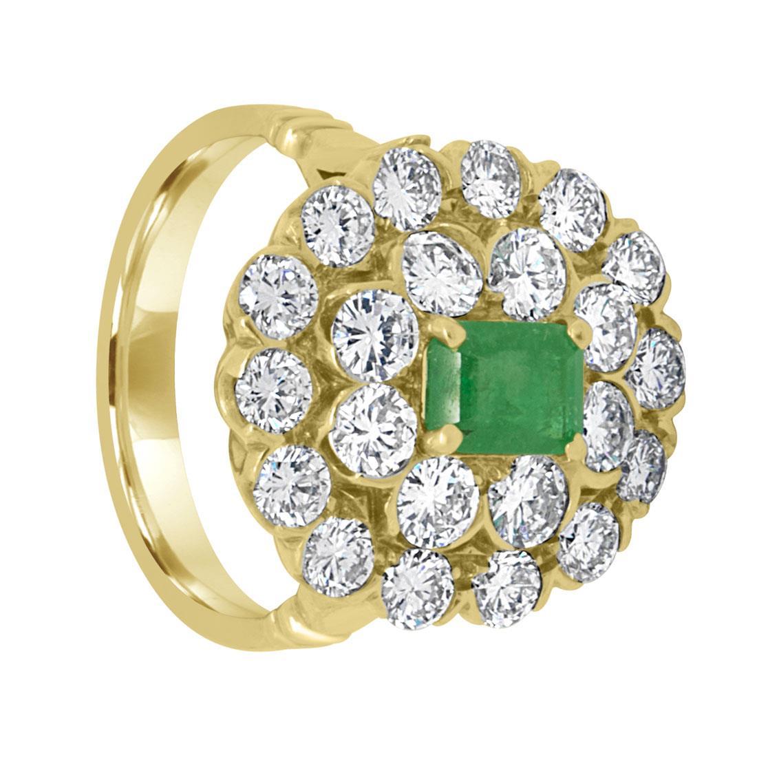 Anello design con diamanti ct. 2,22 e smeraldo - ALFIERI & ST. JOHN
