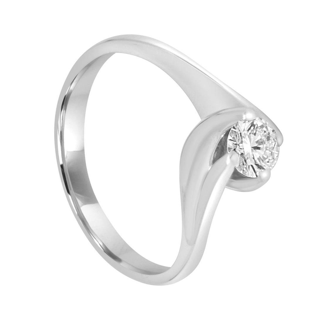 Anello solitario in oro bianco con diamante - ALFIERI & ST. JOHN