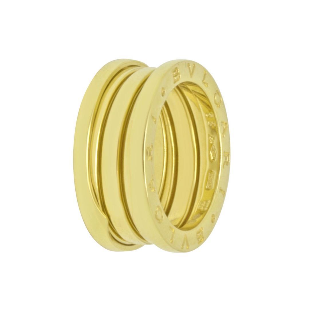 Anello a 3 fasce in oro giallo, misura 12 - BULGARI