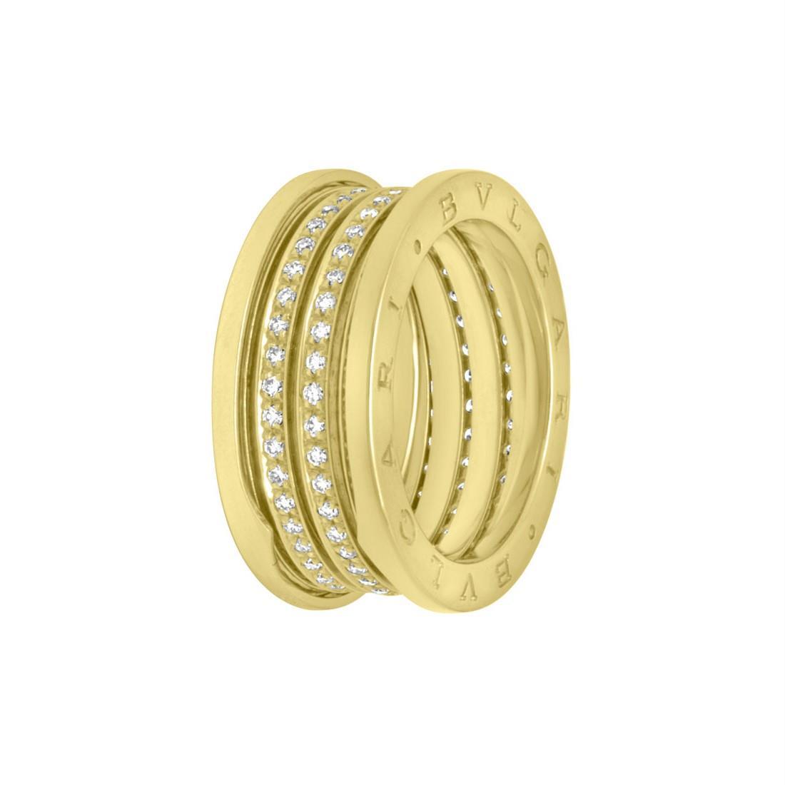 Anello a fascia in giallo con diamanti mis 23 - BULGARI