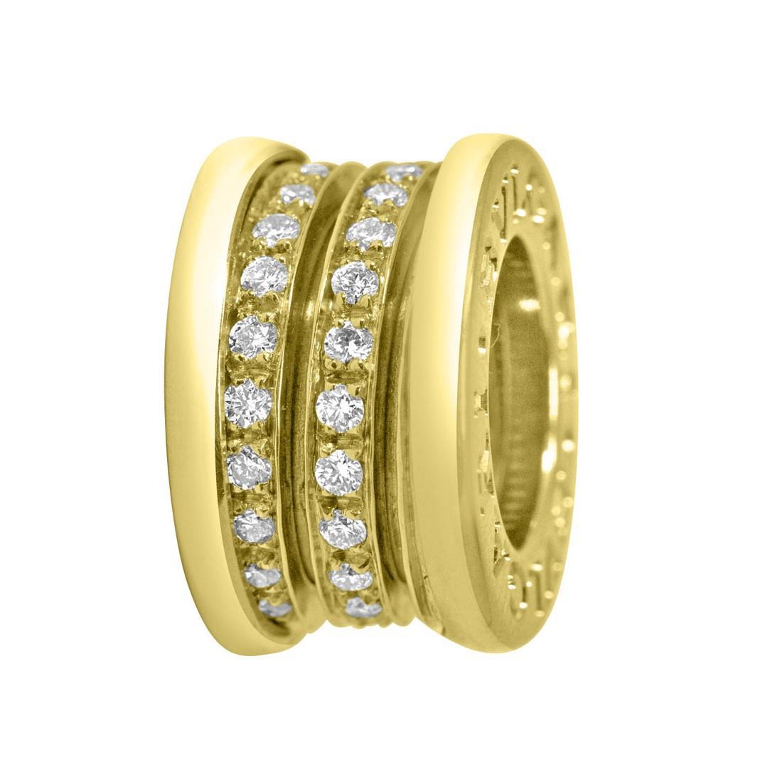 Pendente in oro giallo con diamanti ct 0.09, dimensione 1cm - BULGARI