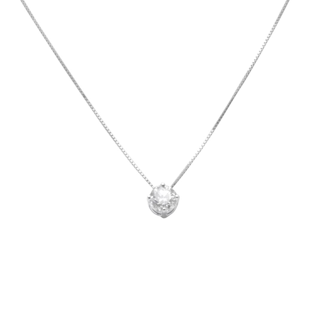 White gold light point necklace with 0.60 ct diamond - ALFIERI & ST. JOHN