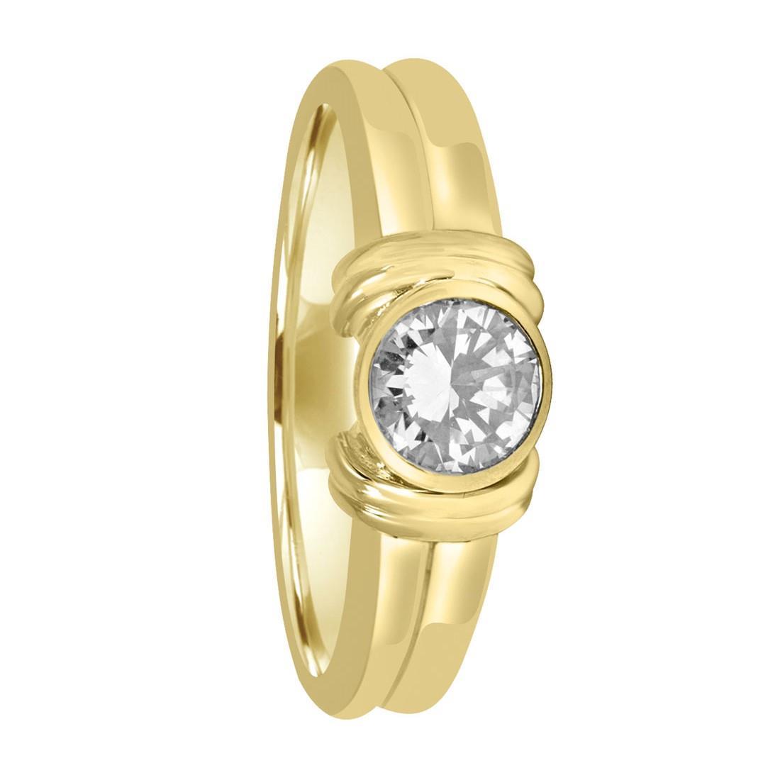 Anello solitario in oro giallo con diamante ct 0,50 - ALFIERI ST JOHN
