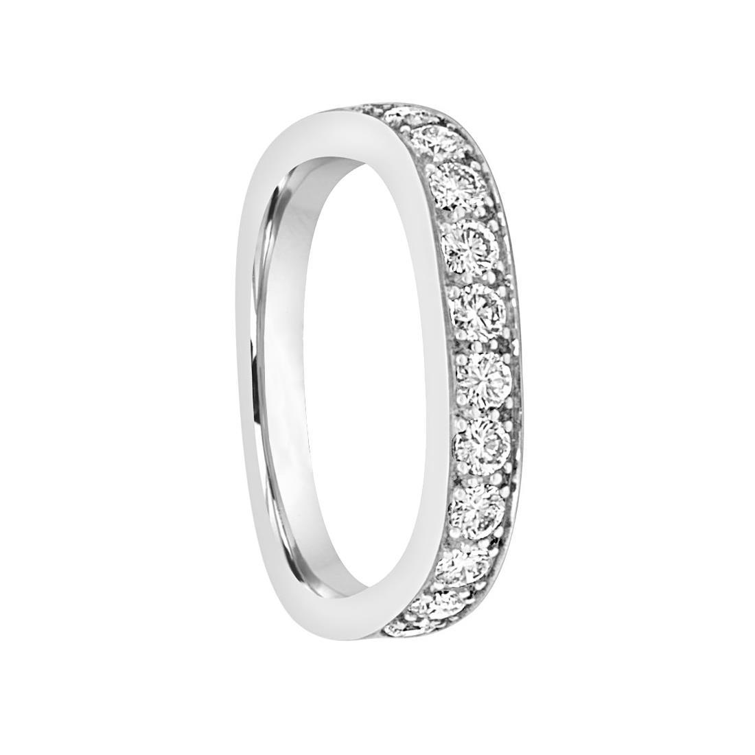 Anello in oro bianco con diamanti - ORO&CO