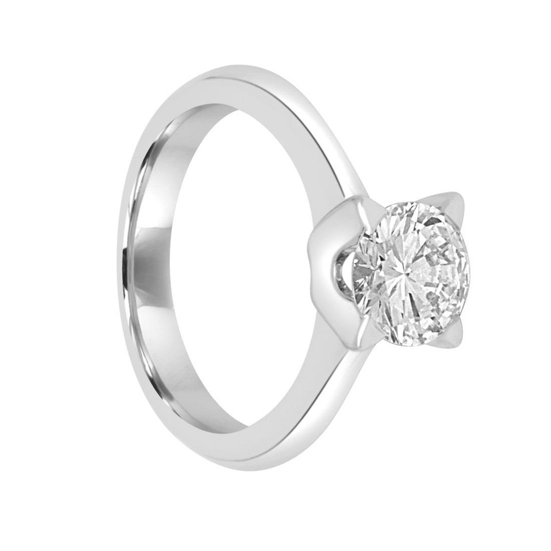 Anello solitario con diamante mis 12 - ORO&CO
