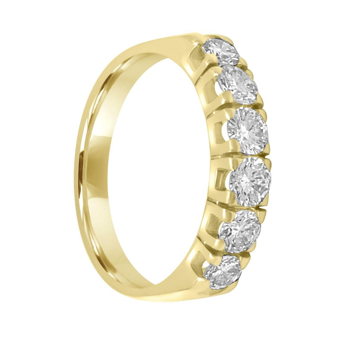 Veretta in oro giallo con diamanti mis 17 - ORO&CO