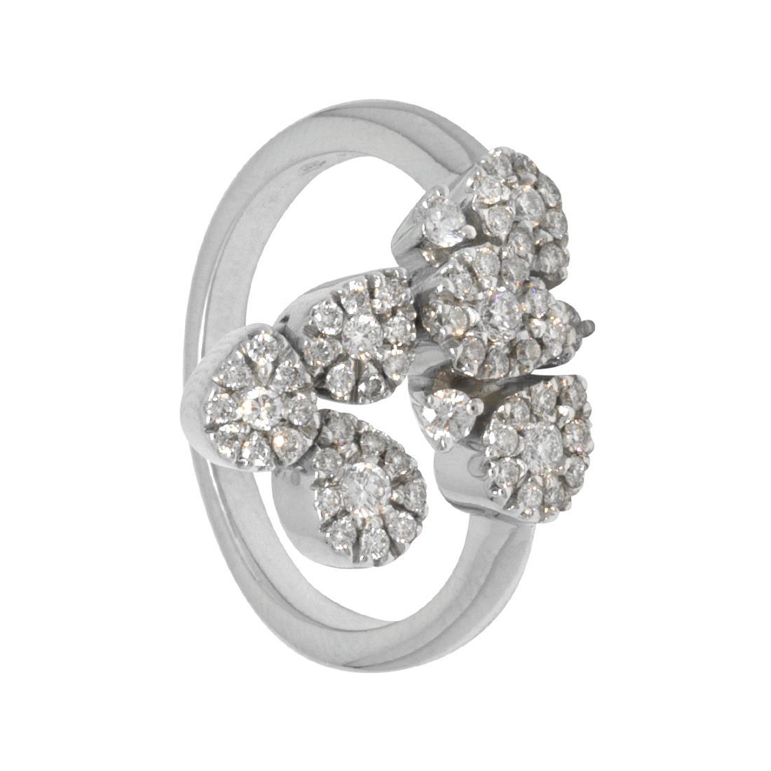 Anello in oro bianco con diamanti ct 0.45, misura 13 - ORO&CO