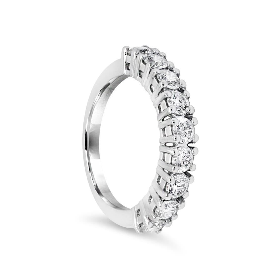 Anello veretta con diamanti - ALFIERI & ST. JOHN