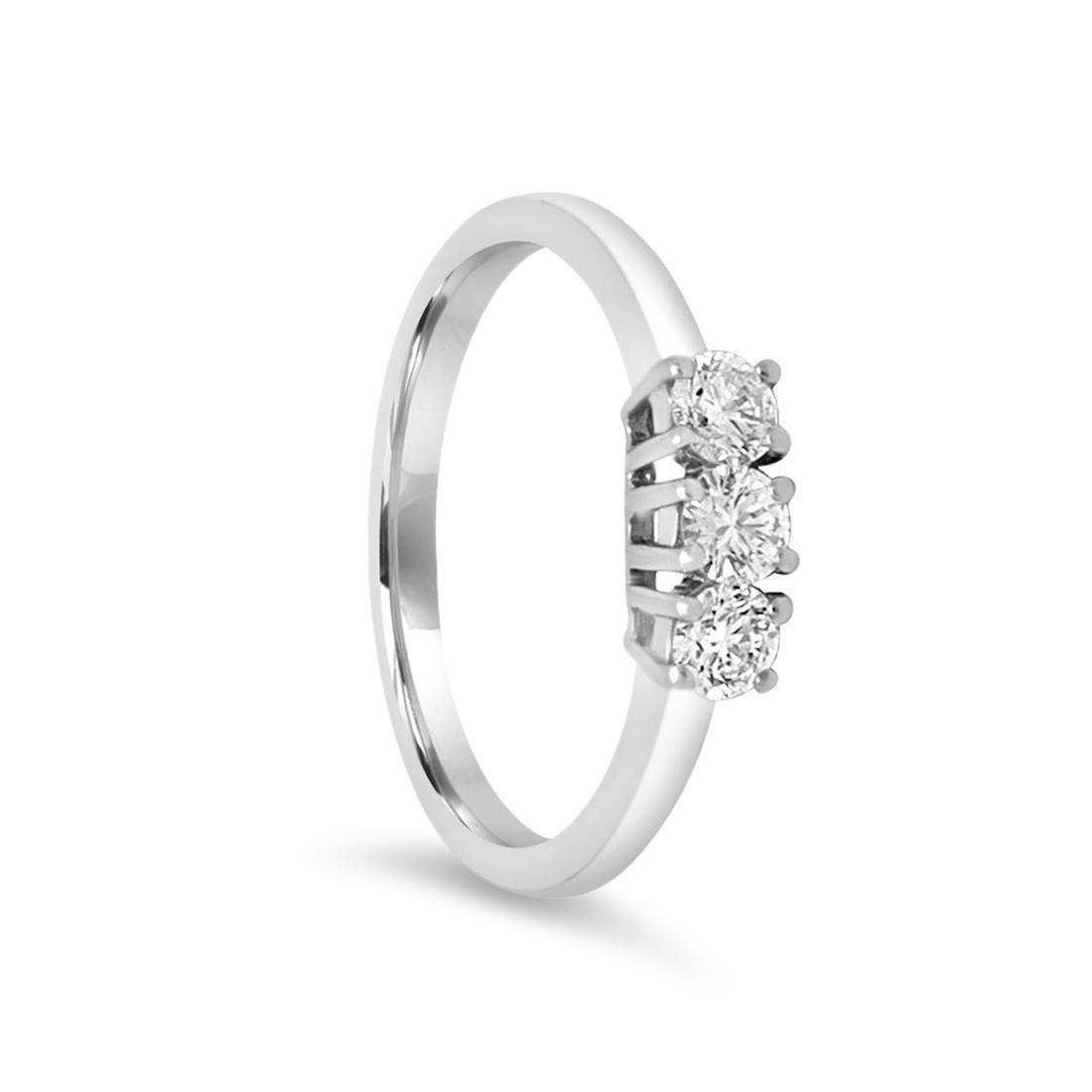 Anillo de oro blanco con diamantes de 0,45 ct - ALFIERI & ST. JOHN