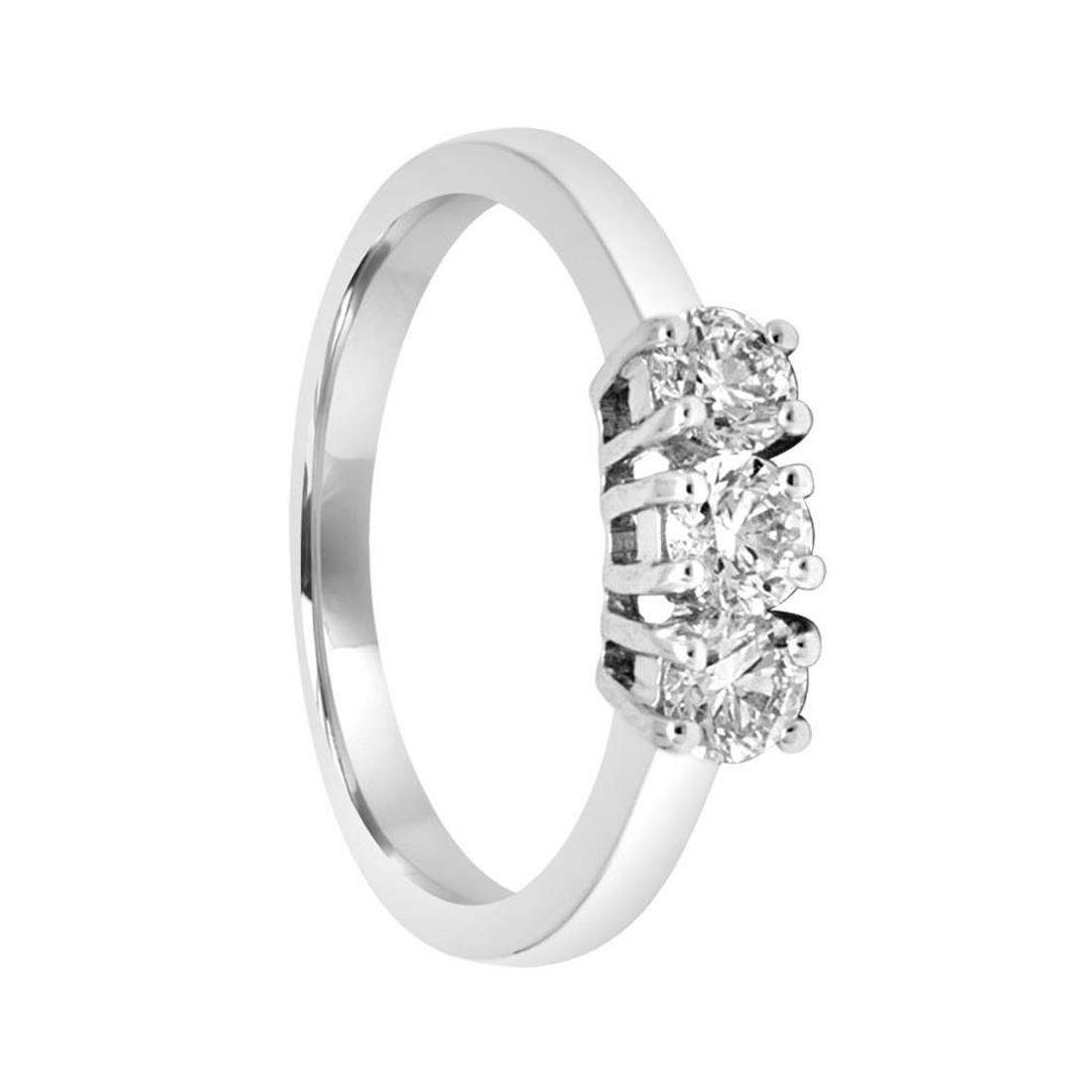Anello trilogy in oro bianco con diamanti mis 14 - ALFIERI ST JOHN