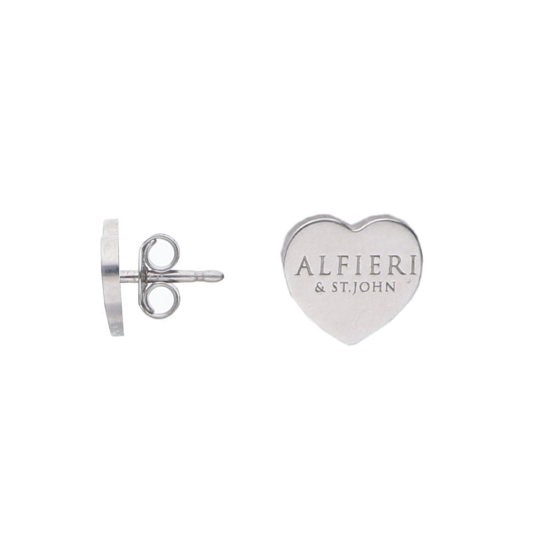 Orecchini a cuore in argento rodiato - ALFIERI & ST. JOHN 925