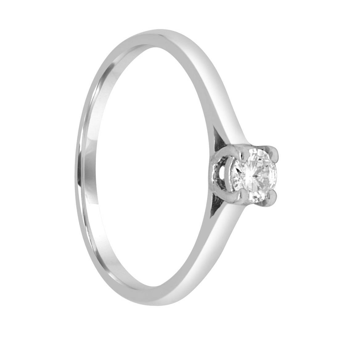Anello solitario in oro bianco con diamante mis 13.5 - ORO&CO
