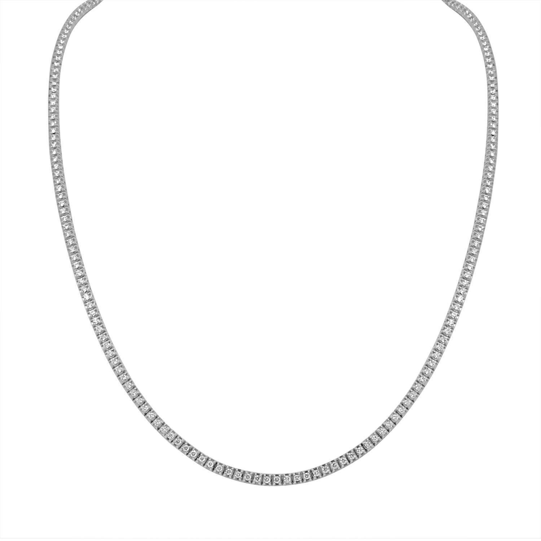 Collana tennis in oro bianco con diamanti ct. 2,20 - ALFIERI & ST. JOHN