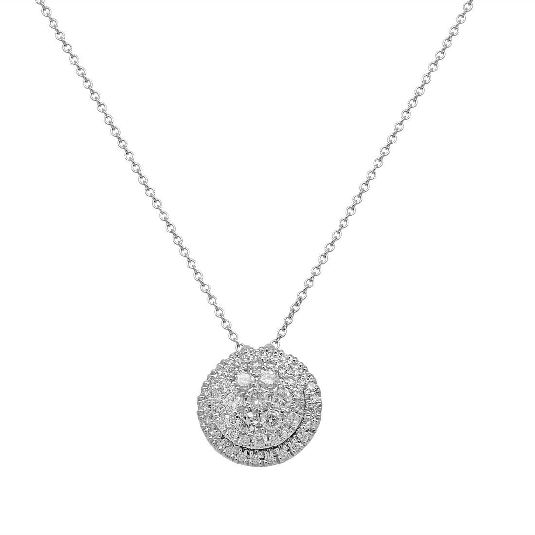 Collana in oro bianco con diamanti ct. 0,70 - ALFIERI ST JOHN