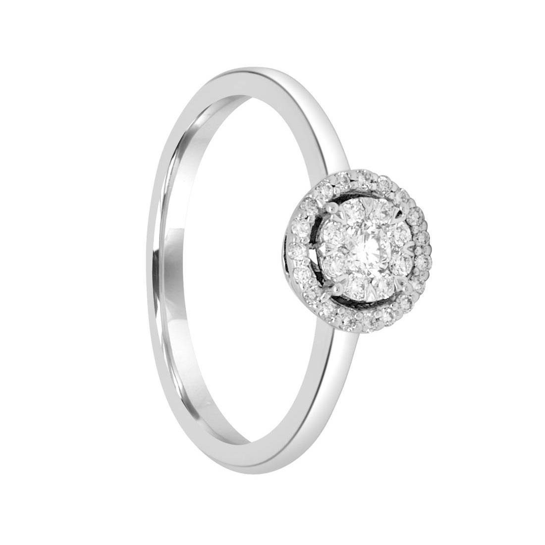 Anello in oro bianco con diamanti ct. 0,23 - ALFIERI & ST. JOHN