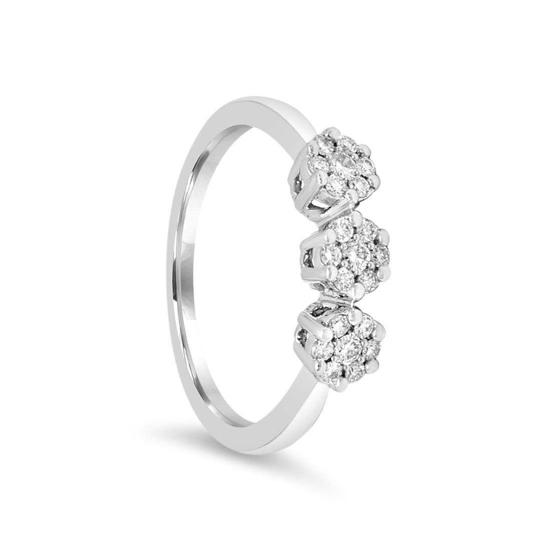 Anillo trilogía con diamantes - ALFIERI & ST. JOHN