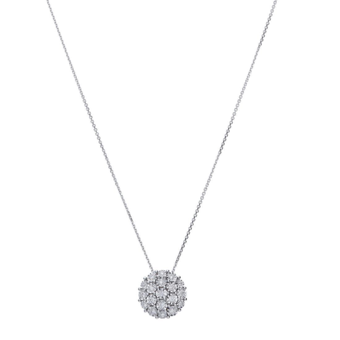Collar con diamantes - ORO&CO