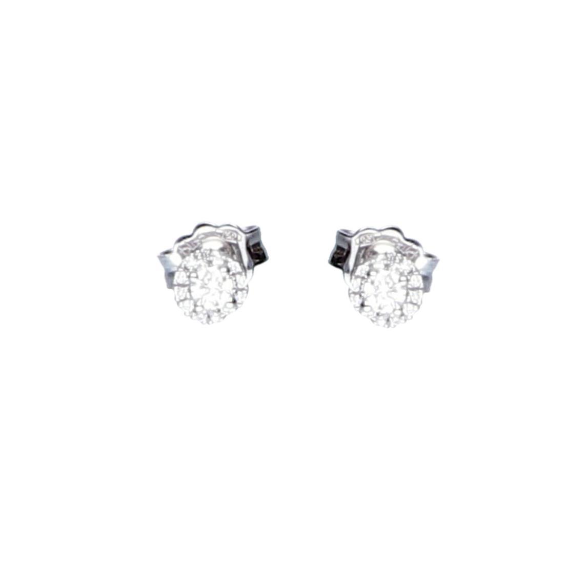 Orecchini puto luce in oro bianco con diamanti - BLISS
