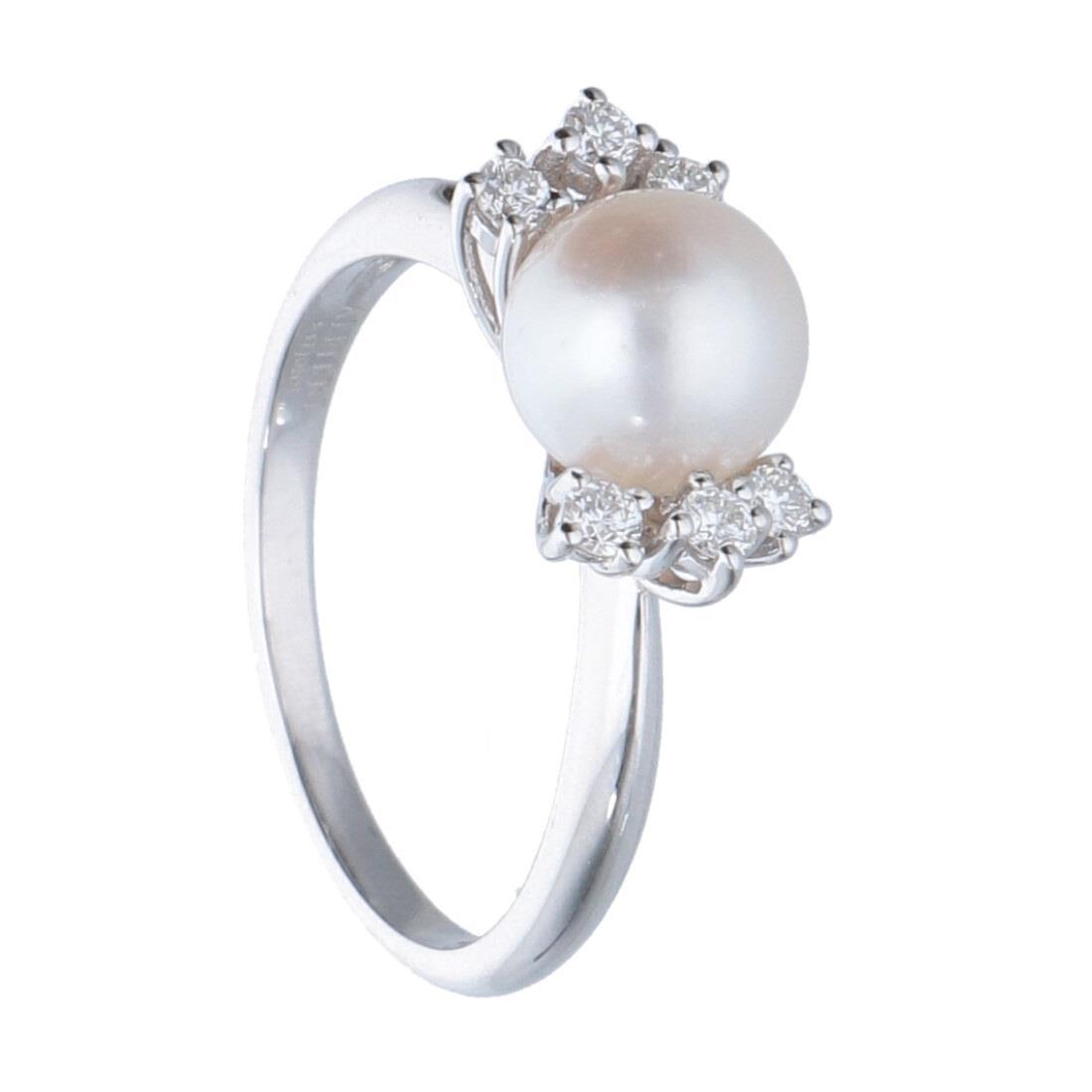 Anello con diamanti e perla - ALFIERI & ST. JOHN