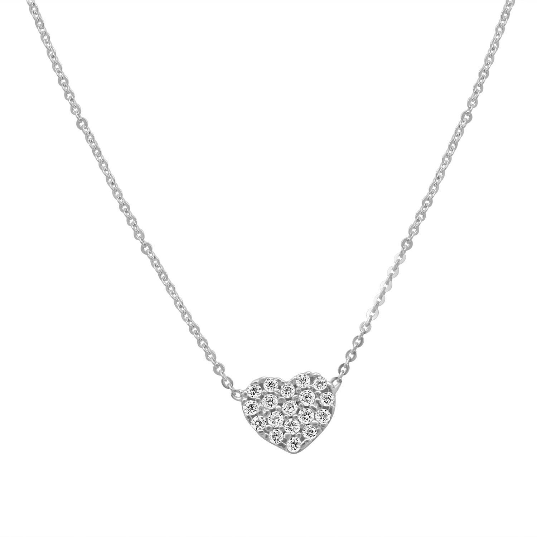 Collana in oro bianco con pendente cuore - ORO&CO