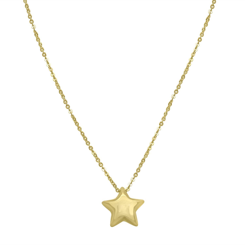 Collana in oro giallo con pendente a stella bombata - ORO&CO