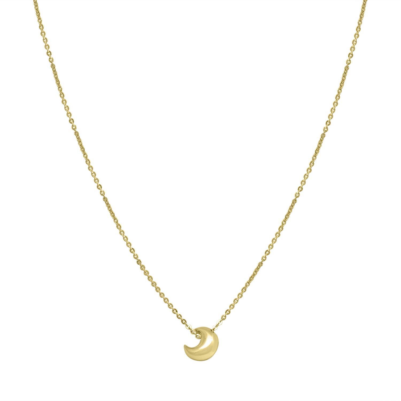 Collana in oro giallo con pendente a luna - ORO&CO