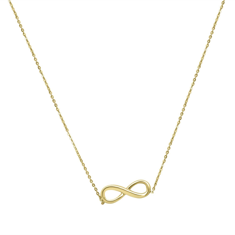 Collana in oro giallo con simbolo dell'infinito - ORO&CO