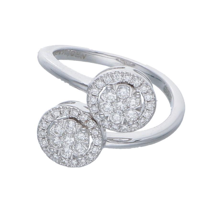 Anello contrarie con diamanti ct. 0,55 - ALFIERI & ST. JOHN