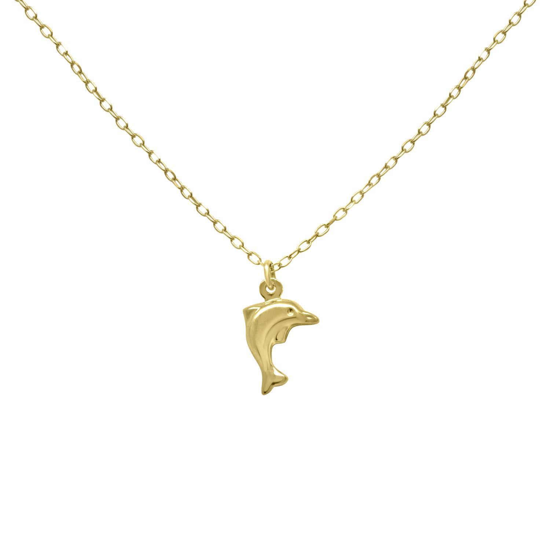 Collana in oro giallo con pendente delfino - ORO&CO