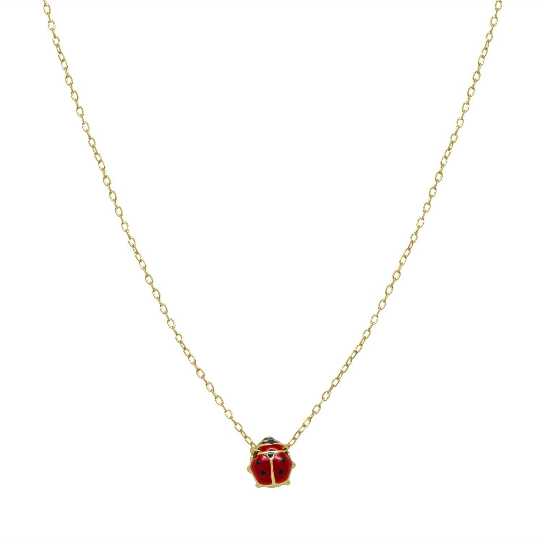 Collana in oro giallo con coccinella - ORO&CO