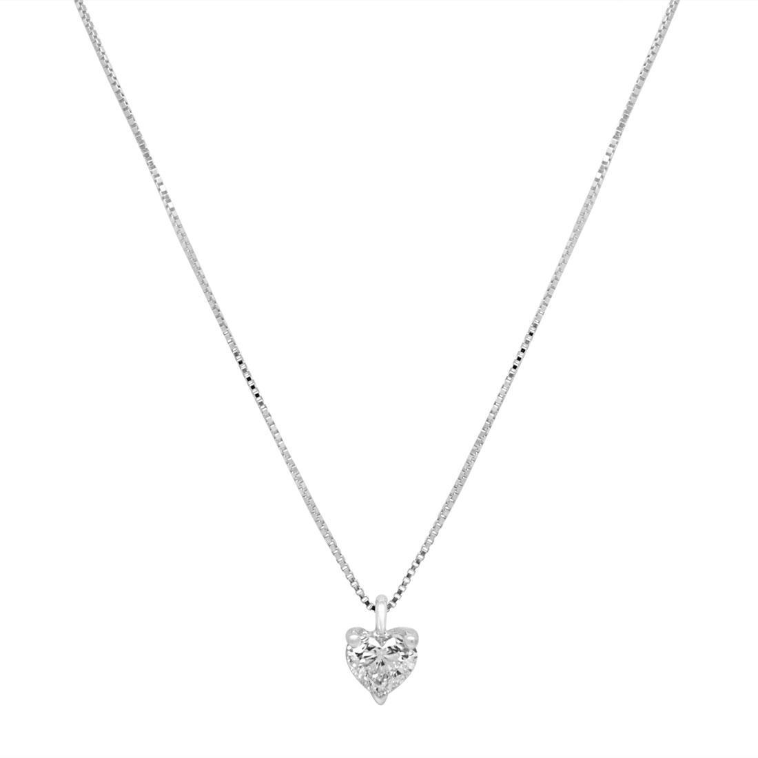 Collana in oro bianco con diamante - ALFIERI & ST. JOHN