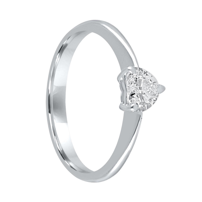 Anello solitario in oro bianco con diamante ct. 0,45 - ALFIERI & ST. JOHN