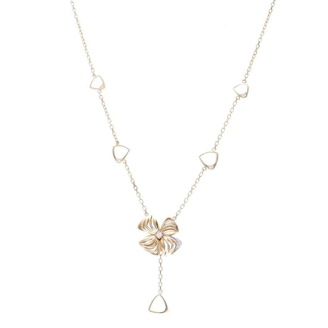 Collana in oro giallo con diamanti  - ALFIERI & ST. JOHN