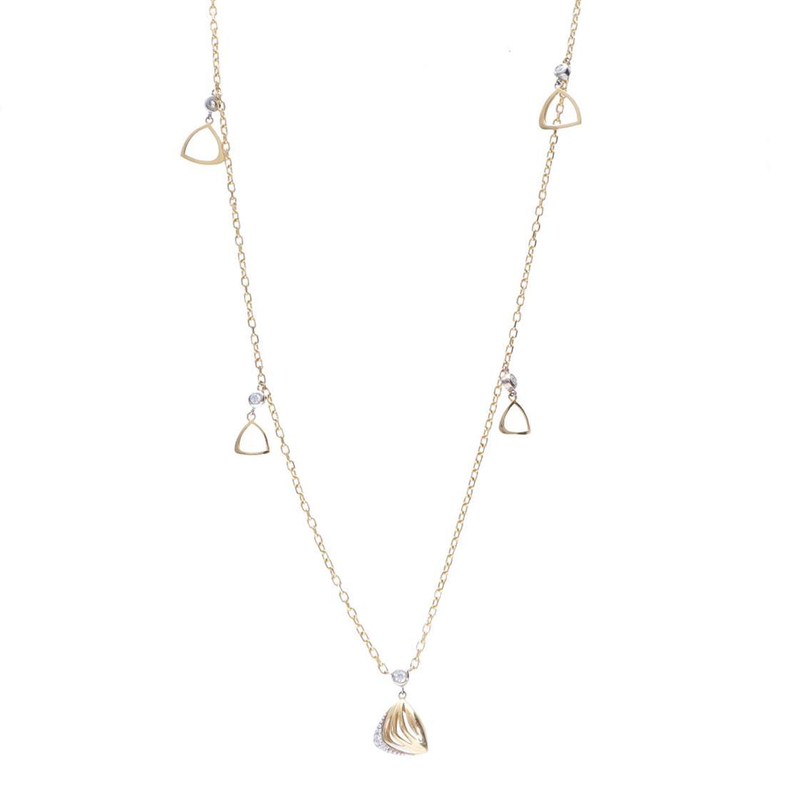 Long necklace with diamonds - ALFIERI & ST. JOHN