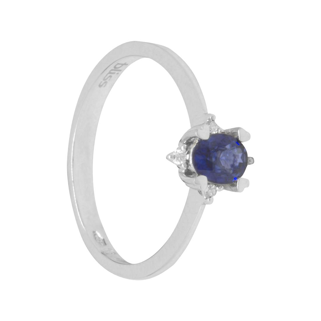 Anello con zaffiro e diamanti  - BLISS