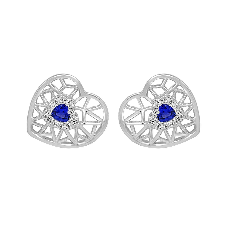 Orecchini con diamanti e zaffiri - BLISS