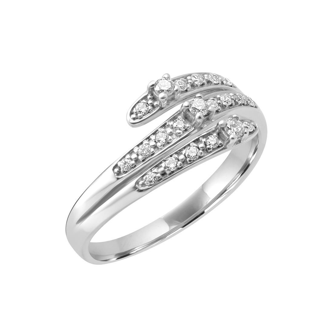 Anello in oro bianco con diamanti ct. 0,16 - BLISS