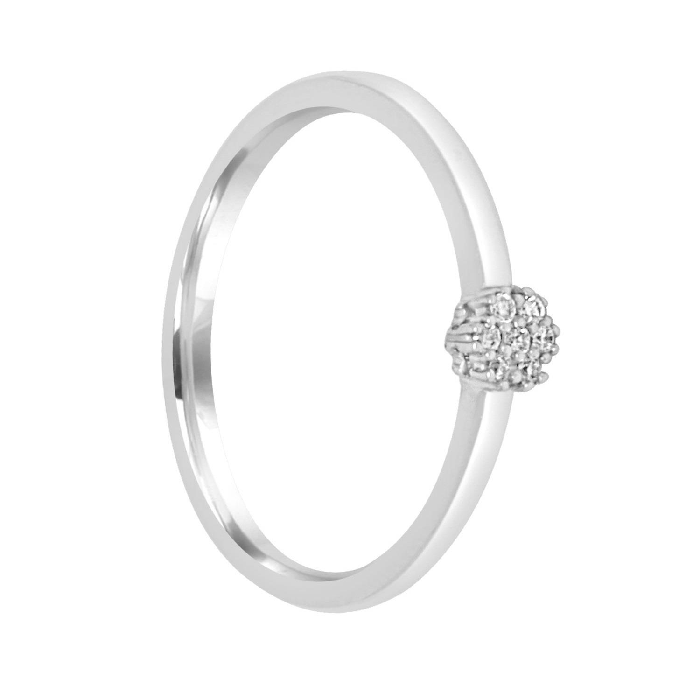 Anello in oro bianco con diamante ct. 0,04 - BLISS