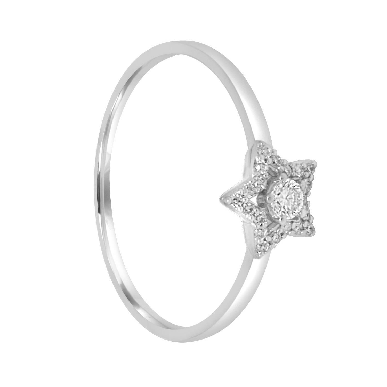 Anello in oro bianco con diamanti ct. 0,12 - BLISS