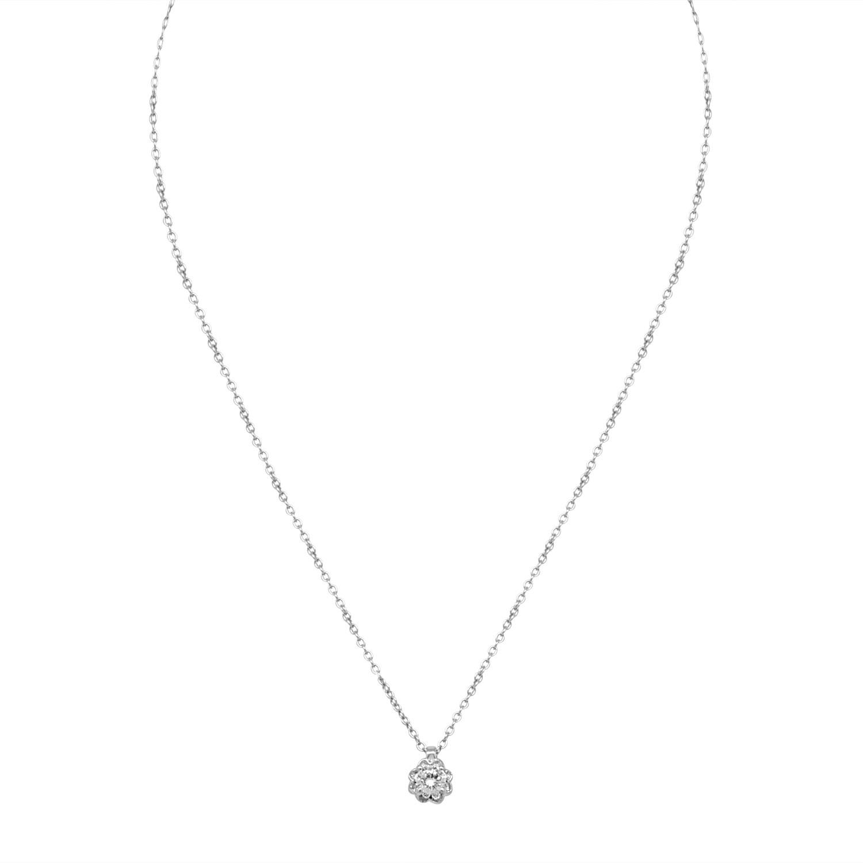 Collier in oro bianco con diamanti  - BLISS