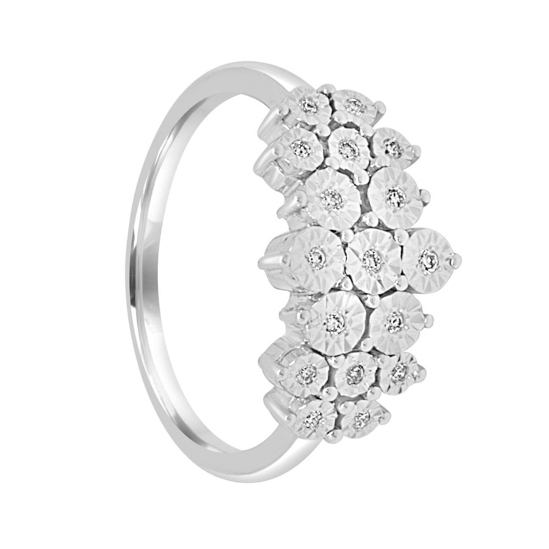 Anello in oro bianco e diamanti misura 13 - BLISS