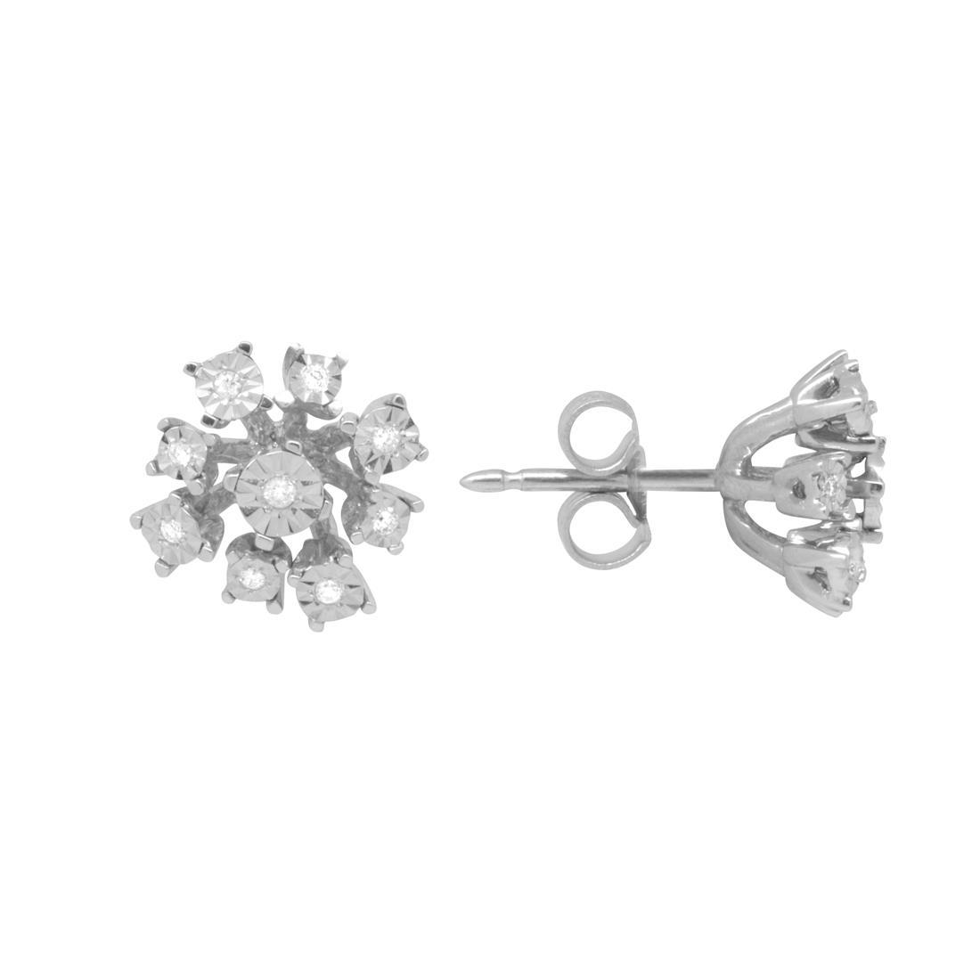 Orecchini in oro bianco con diamanti - BLISS