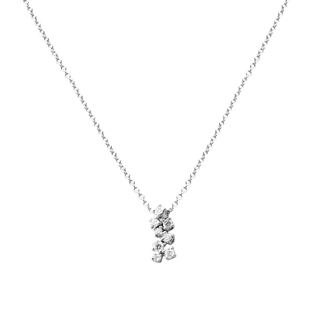 Collana in oro bianco con diamanti - BLISS